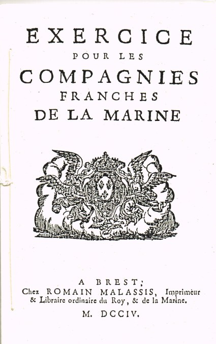 Image for EXERCISE POUR LES COMPAGNIES FRANCHES DE LA MARINE (1704)
