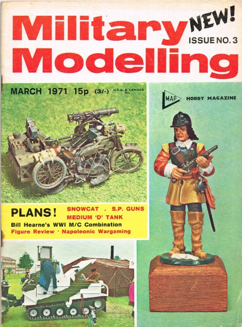 Image for MILITARY MODELLING VOLUME 1: ISSUE NO.3: MARCH 1971