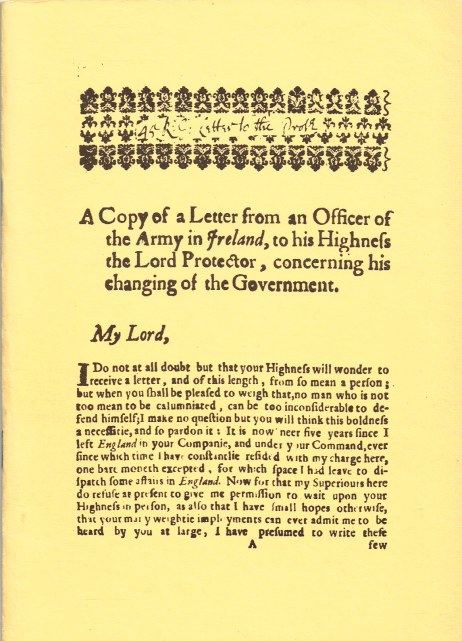 Image for A COPY OF A LETTER FROM AN OFFICER OF THE ARMY IN IRELAND