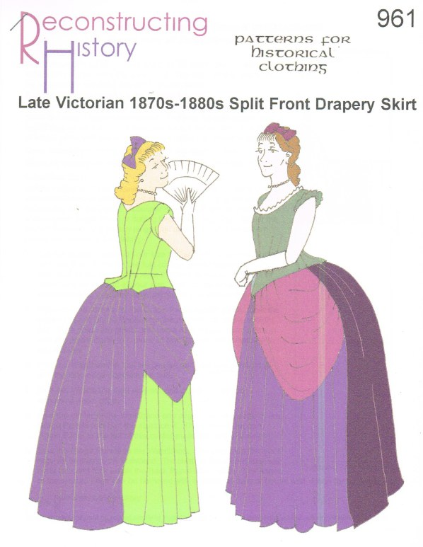 Image for RH961: LATE VICTORIAN 1870S-1880S SPLIT FRONT DRAPERY SKIRT