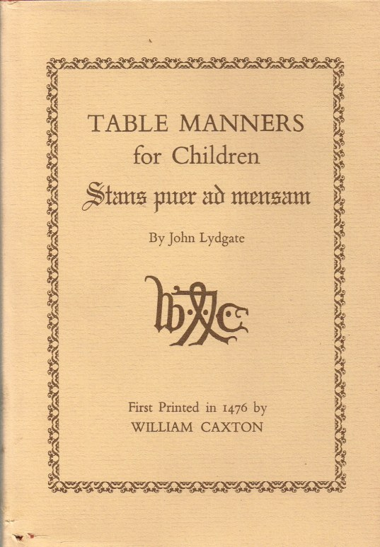 Image for TABLE MANNERS FOR CHILDREN: STANS PUER AD MENSAM