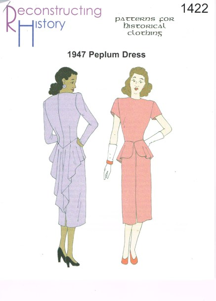 Image for RH1422: LADIES' PEPLUM DRESS CIRCA 1946