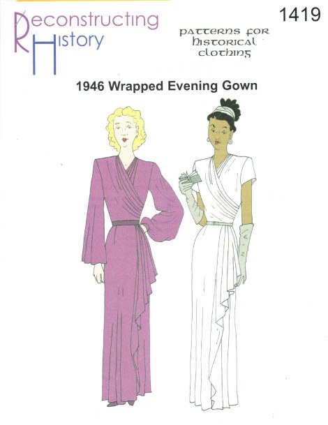 Image for RH1419: LADIES' WRAPPED EVENING GOWN CIRCA 1946