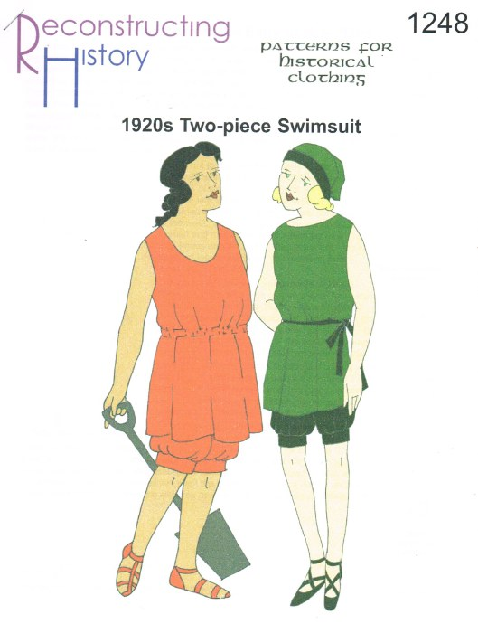 Image for RH1248: LADIES' EARLY 1920S SWIMSUIT WITH UNDERTANK