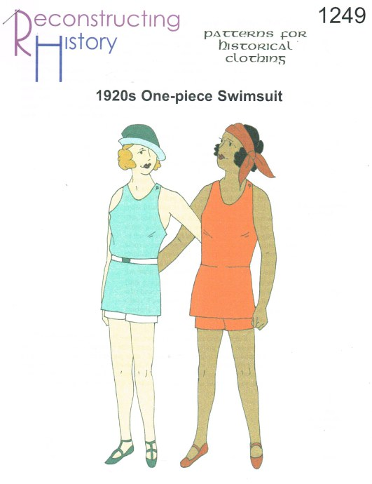 Image for RH1249: LADIES' MID-1920S KNITTED SWIMSUIT WITH SKIRT