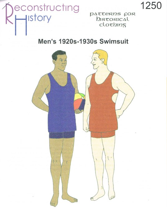 Image for RH1250: MEN'S 1920S - 1930S KNITTED SWIMSUIT WITH TRUNKS