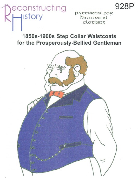 Image for RH928P: 1850S-1900S STEP COLLAR WAISTCOATS FOR THE PROSPEROUSLY-BELLIED GENTLEMAN