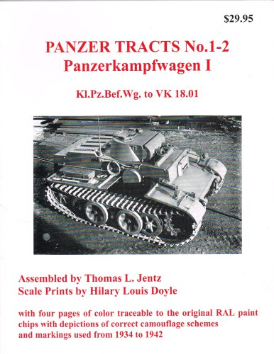 Image for PANZER TRACTS NO. 1-2: PANZERKAMPFWAGEN I KL.PZ.BEF.WG. TO VK 18.01