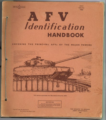 Image for AFV IDENTIFICATION HANDBOOK COVERING THE PRINCIPLE AFVS OF THE MAJOR POWERS (1965)