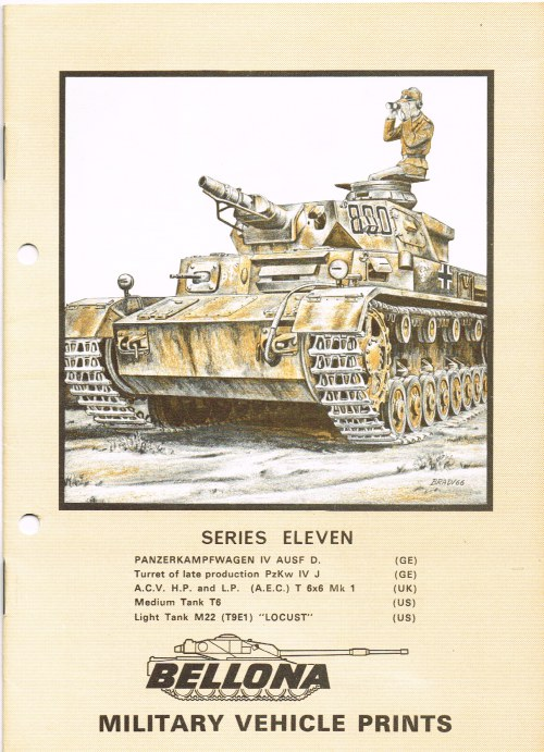 Image for BELLONA MILITARY VEHICLE PRINTS: SERIES ELEVEN