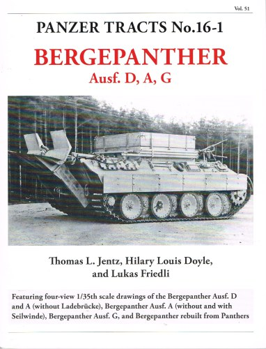 Image for PANZER TRACTS NO. 16-1: BERGEPANTHER AUSF.D,A,G