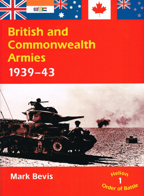 Image for ORDER OF BATTLE NO.1: BRITISH AND COMMONWEALTH ARMIES 1939-43