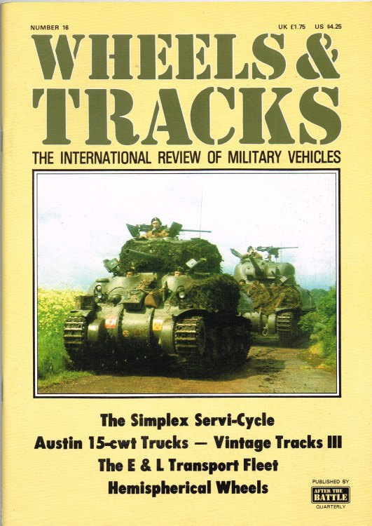 Image for WHEELS & TRACKS: THE INTERNATIONAL REVIEW OF MILITARY VEHICLES: NUMBER 16