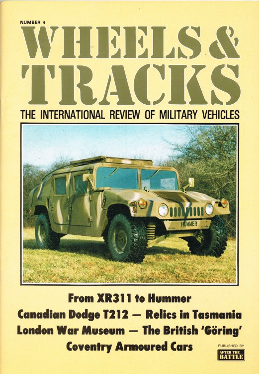 Image for WHEELS & TRACKS: THE INTERNATIONAL REVIEW OF MILITARY VEHICLES: NUMBER 4