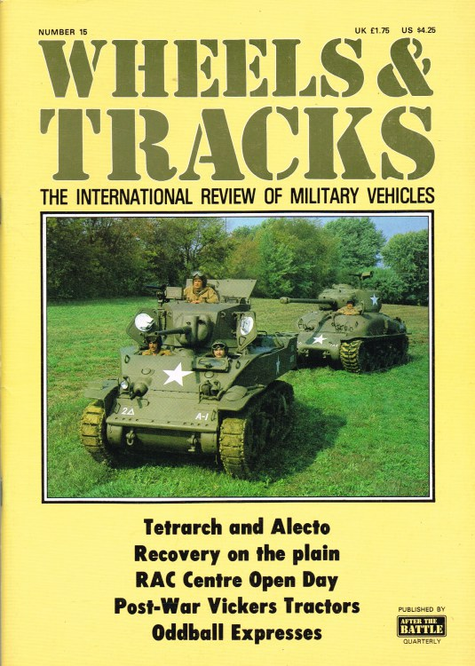Image for WHEELS & TRACKS: THE INTERNATIONAL REVIEW OF MILITARY VEHICLES: NUMBER 15