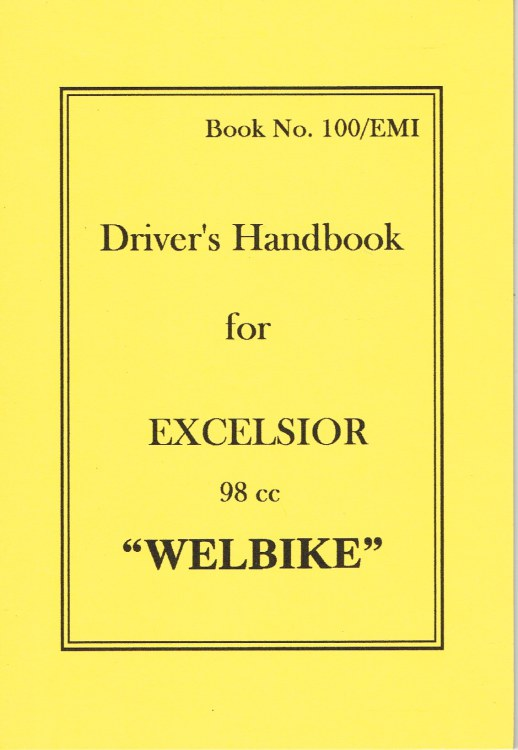 Image for DRIVER'S HANDBOOK FOR EXCELSIOR 98 CC WELBIKE