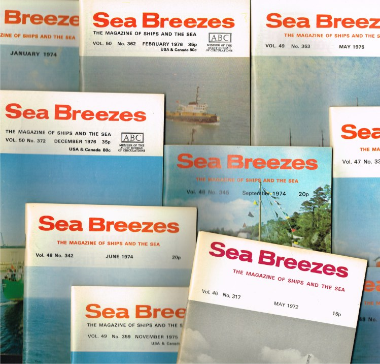 Image for SEA BREEZES - THE MAGAZINE OF SHIPS AND THE SEA (BACK ISSUES IN STOCK)