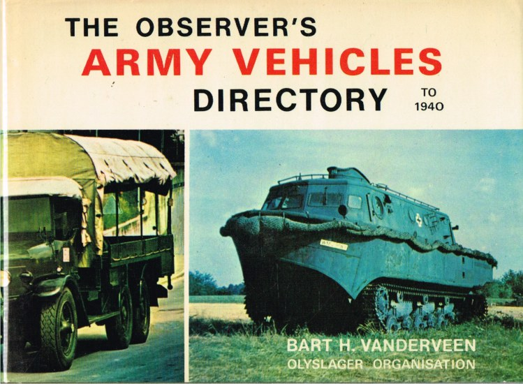Image for THE OBSERVER'S ARMY VEHICLES DIRECTORY TO 1940