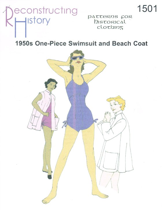 Image for RH1501: LADIES' MID-1950S ONE-PIECE SWIMSUIT AND BEACH COAT