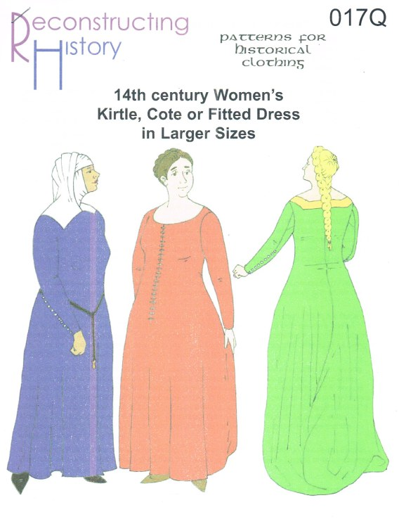 Image for RH017Q: 14TH CENTURY WOMEN'S KIRTLE, COTE OR FITTED DRESS IN LARGER SIZES