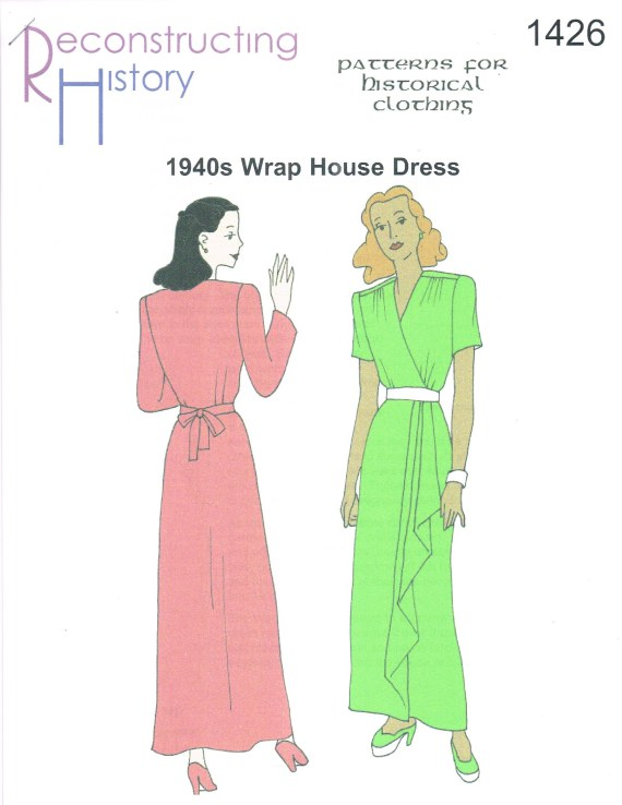 Image for RH1426: 1944 WRAP HOUSE DRESS