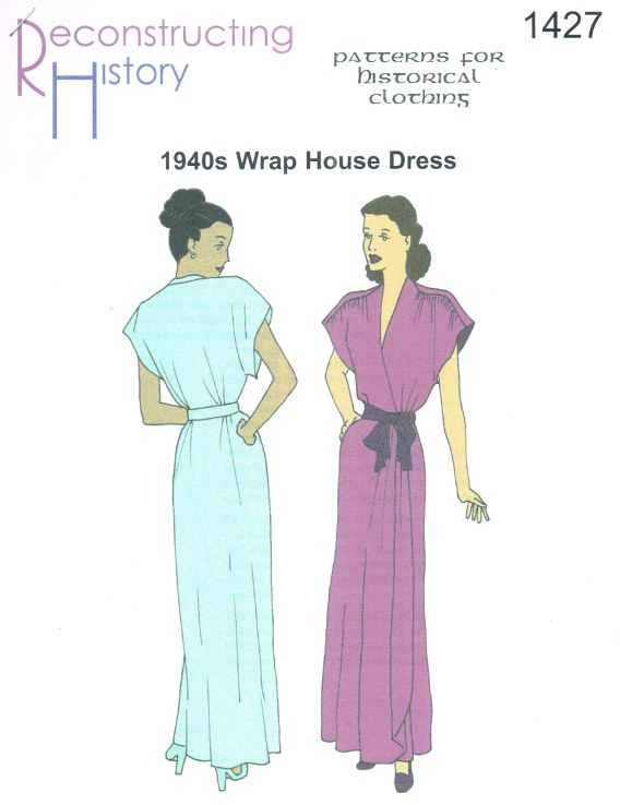 Image for RH1427: 1946 WRAP HOUSE DRESS