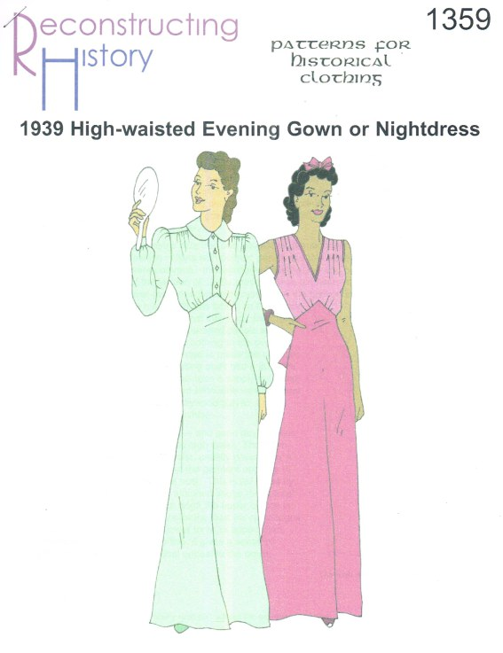 Image for RH1359: 1939 HIGH-WAISTED EVENING GOWN OR NIGHTDRESS