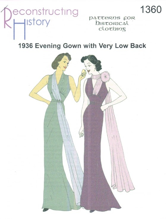 Image for RH1360: 1936 EVENING GOWN WITH VERY LOW BACK