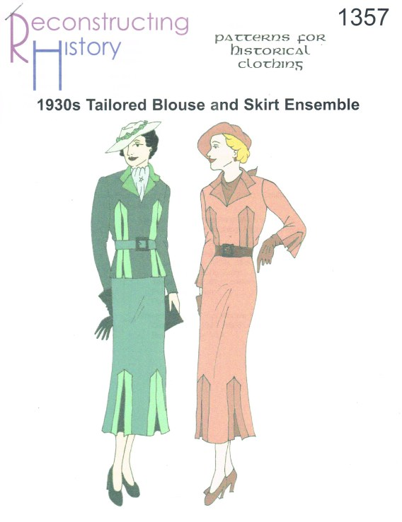 Image for RH1357: 1930S TAILORED BLOUSE AND SKIRT ENSEMBLE