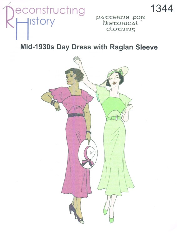 Image for RH1344: MID-1930S DAY DRESS WITH RAGLAN SLEEVES