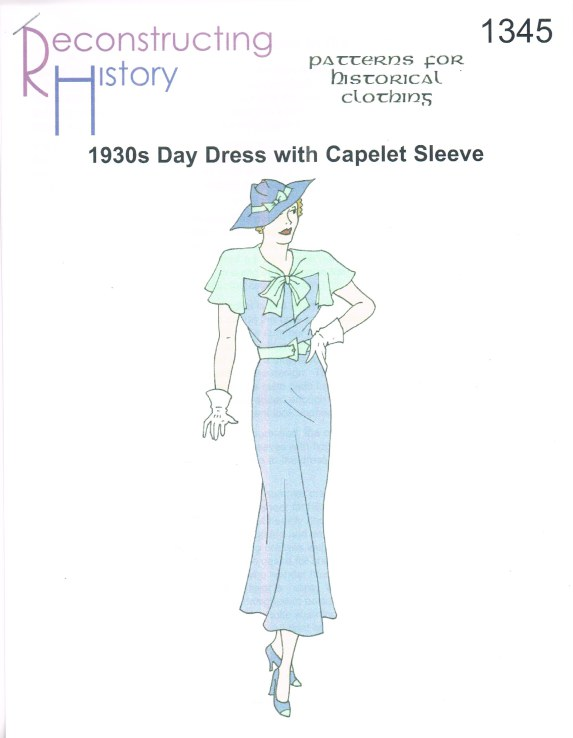 Image for RH1345: MID-1930S DAY DRESS WITH CAPELET SLEEVES