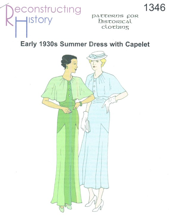 Image for RH1346: EARLY 1930S SUMMER DRESS WITH CAPELET