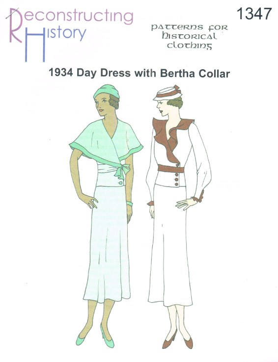 Image for RH1347: 1934 DAY DRESS WITH BERTHA COLLAR