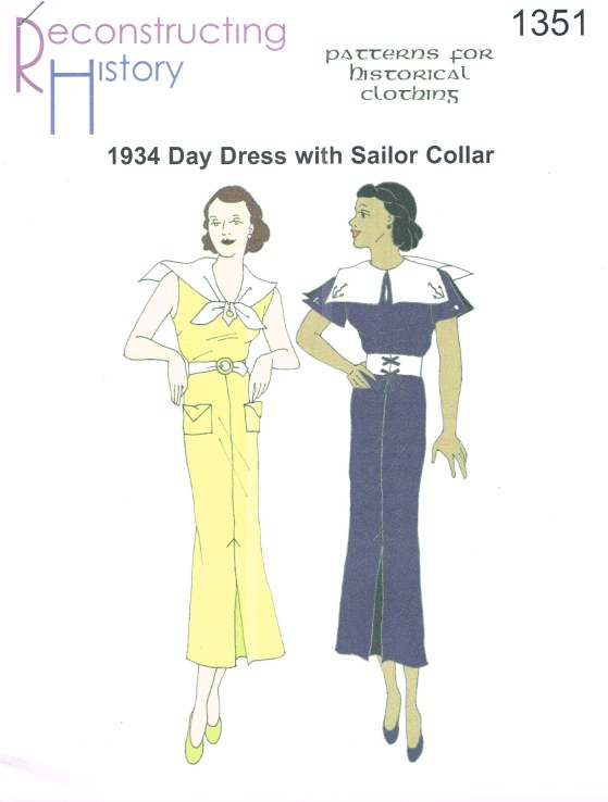 Image for RH1351: 1934 DAY DRESS WITH SAILOR COLLAR