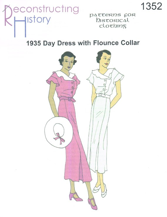 Image for RH1352: 1935 DAY DRESS WITH FLOUNCE COLLAR