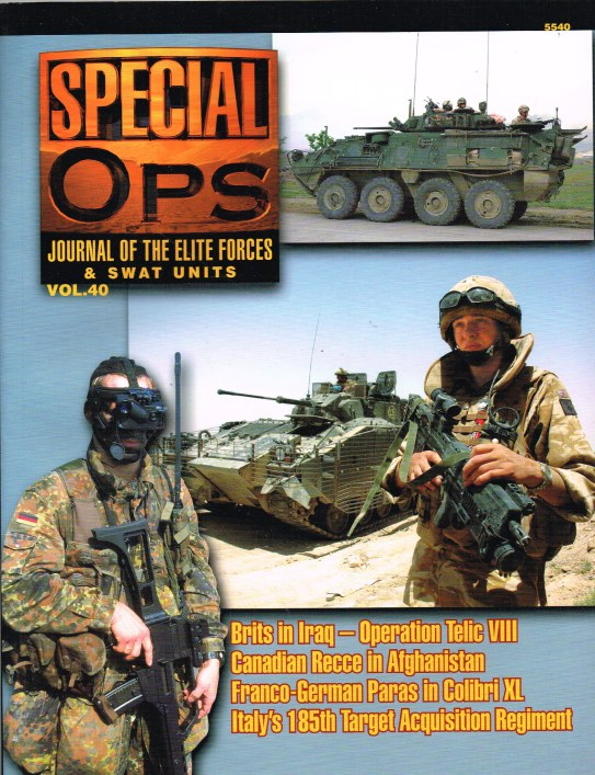 Image for SPECIAL OPS : JOURNAL OF THE ELITE FORCES & SWAT UNITS VOL.40