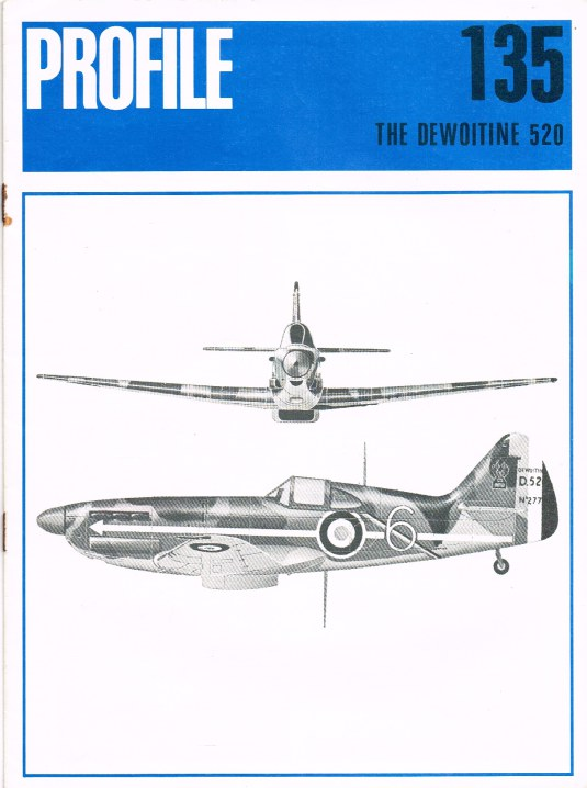 Image for AIRCRAFT PROFILE 135: THE DEWOITINE 520