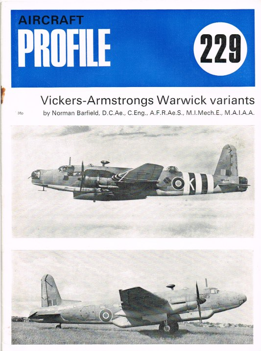 Image for AIRCRAFT IN PROFILE 229: VICKERS-ARMSTRONGS WARWICK VARIANTS