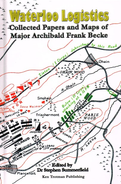 Image for WATERLOO LOGISTICS : COLLECTED PAPERS AND MAPS OF MAJOR ARCHIBALD FRANK BECKE