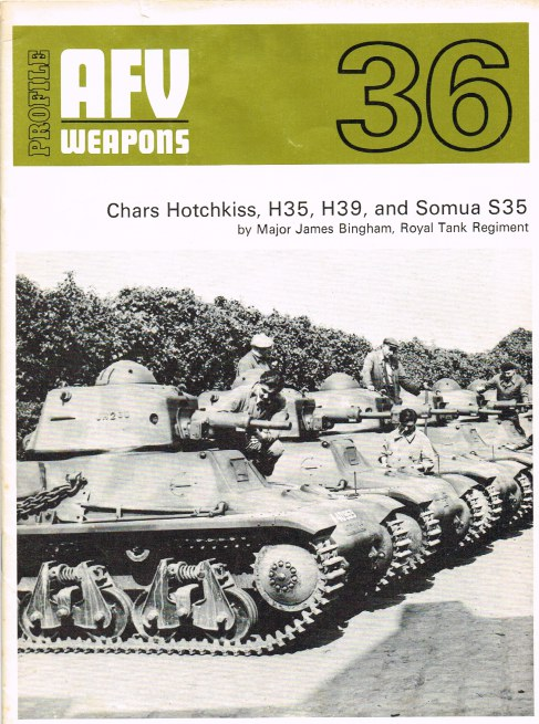 Image for PROFILE AFV 36: CHARS HOTCHKISS, H35, H39, AND SOMUA S35