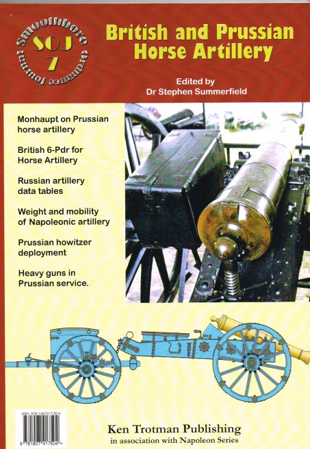 Image for SMOOTHBORE ORDNANCE JOURNAL ISSUE 7: BRITISH AND PRUSSIAN HORSE ARTILLERY