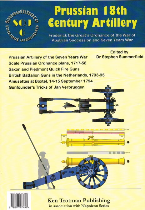 Image for SMOOTHBORE ORDNANCE JOURNAL ISSUE 6: PRUSSIAN 18TH CENTURY ARTILLERY