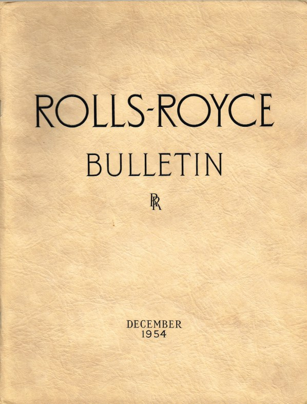 Image for ROLLS-ROYCE BULLETIN DECEMBER 1954