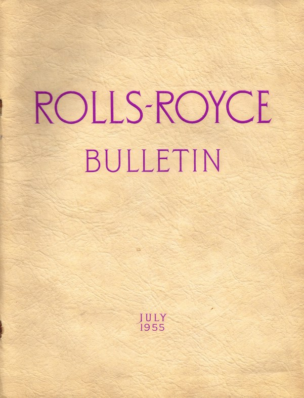 Image for ROLLS-ROYCE BULLETIN JULY 1955