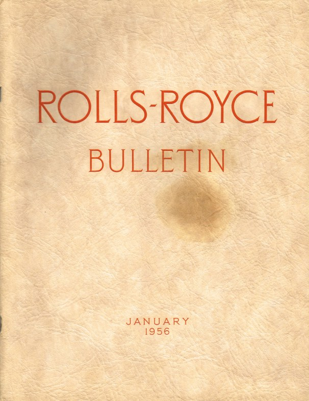 Image for ROLLS-ROYCE BULLETIN JANUARY 1956