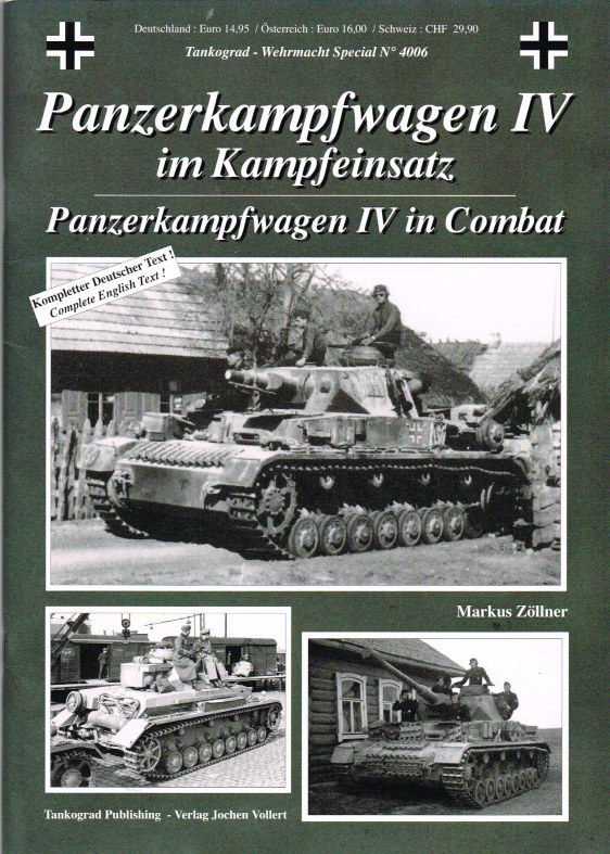 Image for PANZERKAMPFWAGEN IV IN COMBAT (FIRST EDITION)