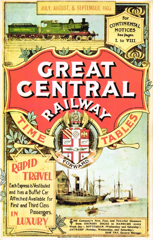 Image for GREAT CENTRAL RAILWAY TIME TABLES JULY, AUGUST & SEPTEMBER 1903