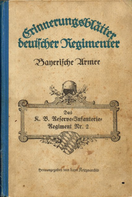 Image for BAYERISCHE ARMEE BAND 41: DAS K.B. RESERVE - INFANTERIE - REGIMENT NR.2 (GERMAN TEXT)