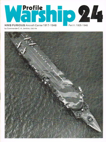 Image for PROFILE WARSHIP 24: HMS FURIOUS / AIRCRAFT CARRIER 1917-1948 PART II: 1925-1948
