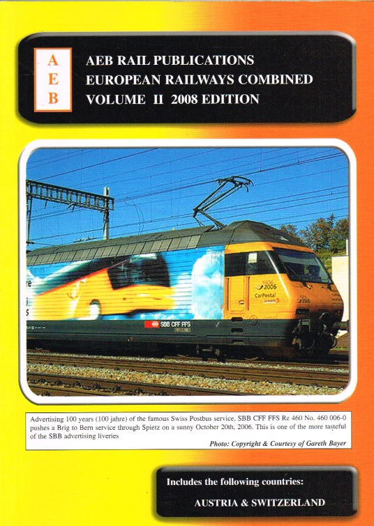 Image for EUROPEAN RAILWAYS COMBINED VOLUME II 2008 EDITION